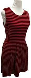 J.Crew short dress Red and Navy Blue on Tradesy