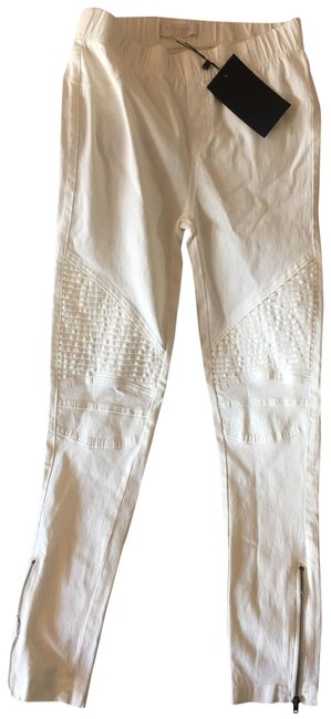 Item - White Moto Collection Jeggings Size 27 (4, S)