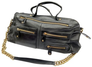 DKNY Leather Gold Hardware Chain Pebbled Chic Shoulder Bag