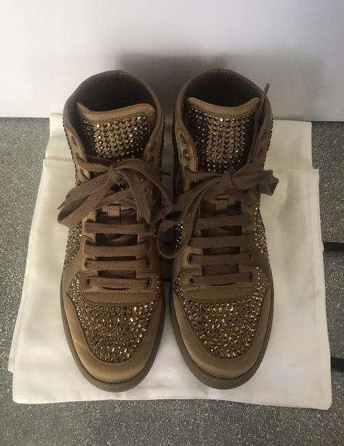 Gucci Gold Sneakers Size EU 38 (Approx. US 8) Regular (M, B) Gucci Gold Sneakers Size EU 38 (Approx. US 8) Regular (M, B) Image 2