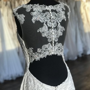 Sottero and Midgley Ivory Lace 7sw958 Vintage Wedding Dress Size 12 (L)