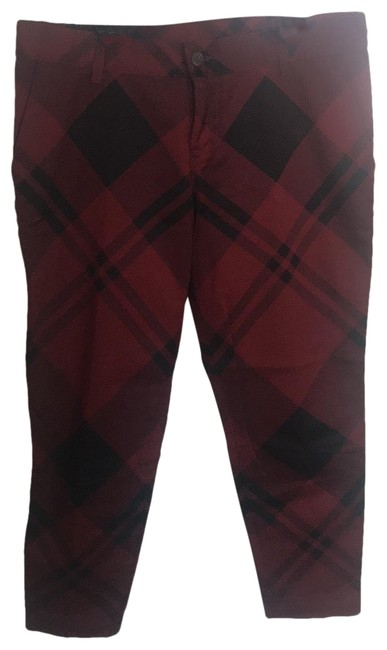 Item - Black Red Holiday Plaid Straight Leg Jeans Size 6 (S, 28)