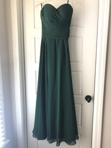 Green Polyester Emerald Formal Bridesmaid/Mob Dress Size 4 (S)