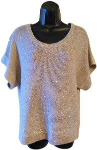 WD.NY Metallic Short Sleeve Sweater