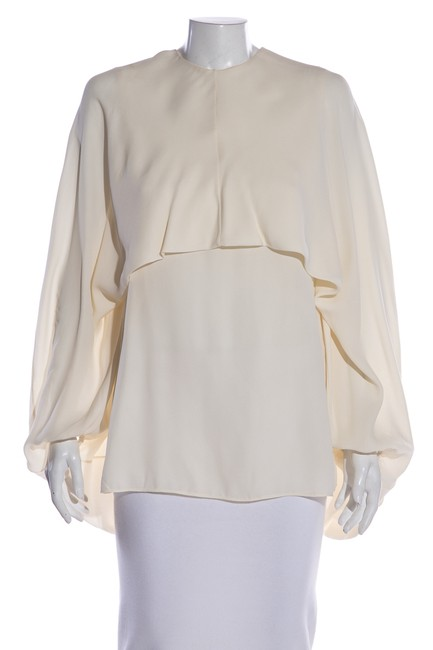 Item - Cream Balloon Sleeve 40 Blouse Size 10 (M)