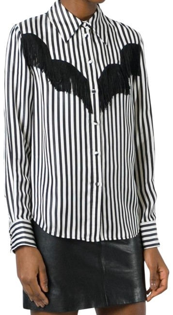 Item - Black and White Blouse Size 0 (XS)