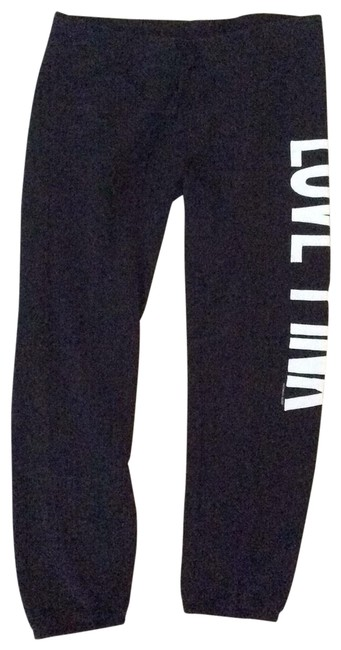 Item - Black with White Lettering Pink Sweatpants Activewear Bottoms Size 8 (M)