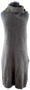 Eileen Fisher Cowlneck Yak Knit Sleeveless Sweater