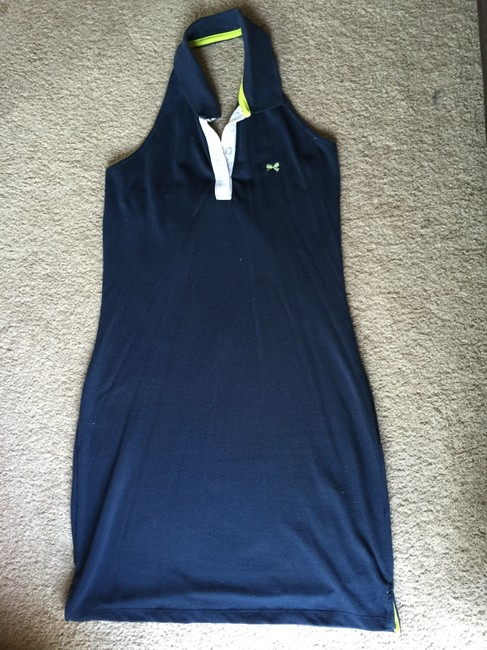 Tommy Hilfiger short dress Navy Halter on Tradesy