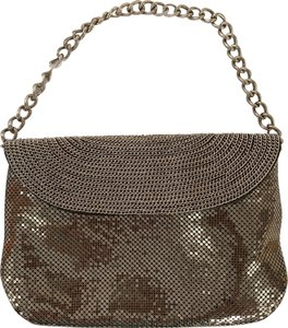 Whiting & Davis Bubble Mesh Pewter Chain Pewter Silver Clutch