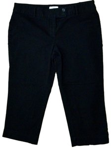 Ann Taylor LOFT Capris Cropped Low Rise Dress P1376 Trouser Pants black