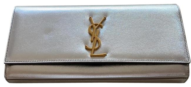 Item - Cassandre Ysl Napa Silk Silver Leather Clutch