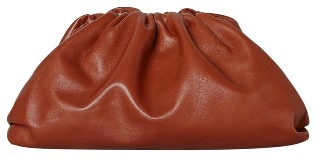 Bottega Veneta Df New The Pouch Rust Leather Clutch Bottega Veneta Df New The Pouch Rust Leather Clutch Image 1