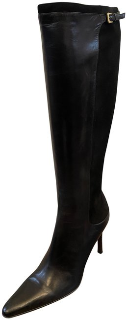 Ralph Lauren Collection Black Langley Suede Leather Point Toe Knee-high Boots/Booties Size US 8 Regular (M, B) Ralph Lauren Collection Black Langley Suede Leather Point Toe Knee-high Boots/Booties Size US 8 Regular (M, B) Image 1