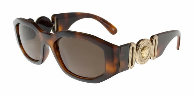 Versace Havana/Gold Ve4361 5217 73 Ve4361 Sunglasses Versace Havana/Gold Ve4361 5217 73 Ve4361 Sunglasses Image 1