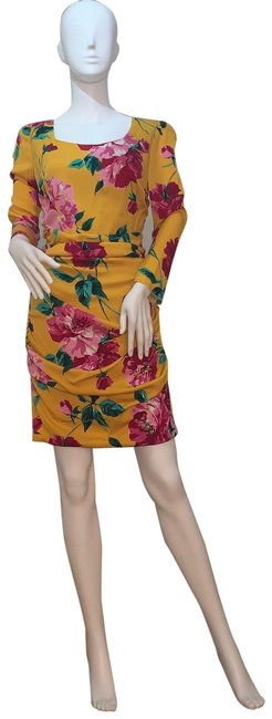 Preload https://img-static.tradesy.com/item/27303648/dolce-and-gabbana-multi-yellowpink-peonies-mid-length-cocktail-dress-size-6-s-0-1-650-650.jpg