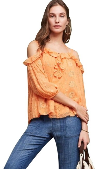 Preload https://img-static.tradesy.com/item/27303689/anthropologie-orange-maryana-open-shoulder-blouse-size-6-s-0-1-650-650.jpg