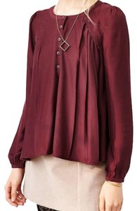Urban Outfitters #gillieblouse #alice&uo Top Burgundy