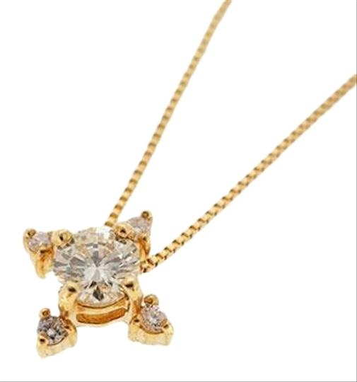 Preload https://img-static.tradesy.com/item/27303810/yellow-gold-natural-diamonds-02420040-ct-18k-pendant-necklace-0-1-540-540.jpg