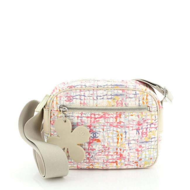 Chanel Case Camera Vintage Clover Small Neutral Pink Print Canvas Cross Body Bag Chanel Case Camera Vintage Clover Small Neutral Pink Print Canvas Cross Body Bag Image 1