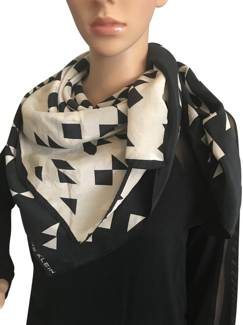 Item - Black Ivory Silk Designer Scarf/Wrap and Free Face Protector Scarf/Wrap