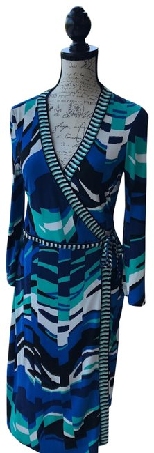 Item - Multi Color Mid-length Work/Office Dress Size 6 (S)