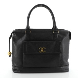 Chanel Briefcase Leather Laptop Bag