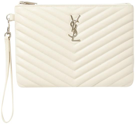 Preload https://img-static.tradesy.com/item/27304155/saint-laurent-off-white-clutch-pouch-leather-wallet-0-1-540-540.jpg