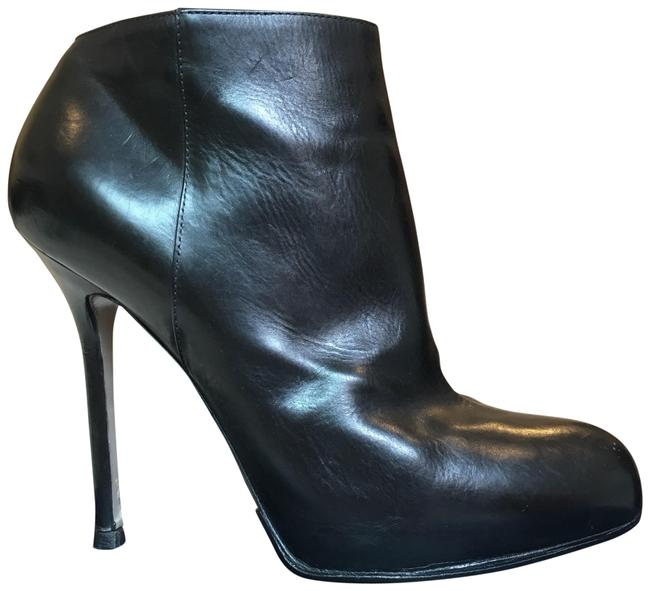 Sergio Rossi Black Leather Heeled Boots/Booties Size US 8 Regular (M, B) Sergio Rossi Black Leather Heeled Boots/Booties Size US 8 Regular (M, B) Image 1