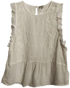 Hoss intropia Anthropologie Embroidered Cotton Top White