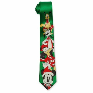 Disney Disney Mickey Mouse and Friends Holiday Silk Tie for Men