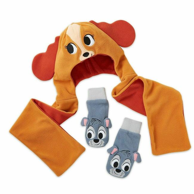 Disney XS Lady and The Tramp Warmwear Set Size Xs/S Scarf/Wrap Disney XS Lady and The Tramp Warmwear Set Size Xs/S Scarf/Wrap Image 1