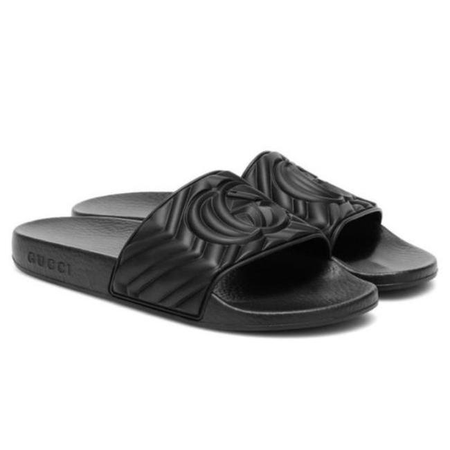 Gucci Gg Logo Embossed Rubber Slides Sandals Size EU 35 (Approx. US 5) Regular (M, B) Gucci Gg Logo Embossed Rubber Slides Sandals Size EU 35 (Approx. US 5) Regular (M, B) Image 1