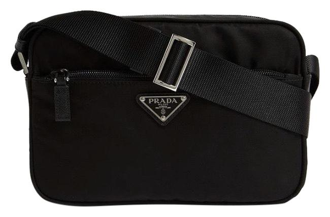 Prada Camera Logo Appliqued Nylon Cross Body Bag Prada Camera Logo Appliqued Nylon Cross Body Bag Image 1