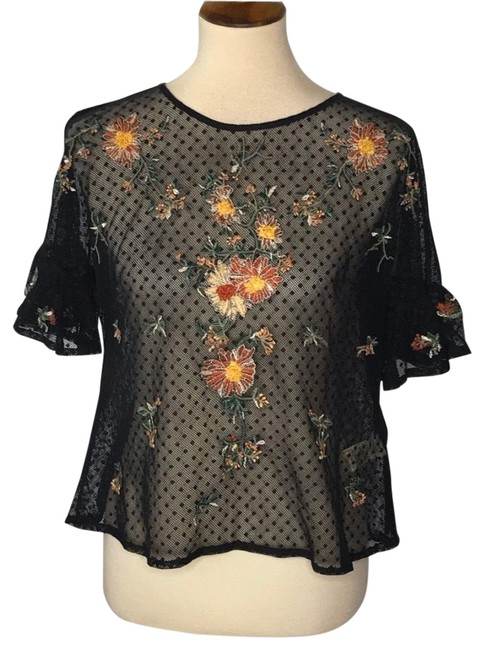 Preload https://img-static.tradesy.com/item/27304682/anthropologie-black-embroidered-blouse-size-2-xs-0-1-650-650.jpg