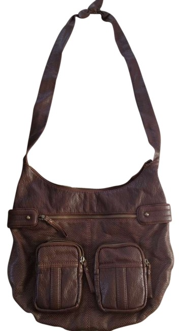 Item - Faux Brown Leather Messenger Bag