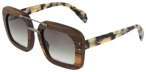 Prada RAW Baroque Wood Malabar Sunglasses Ebony Sand Havana PR30RS 30R