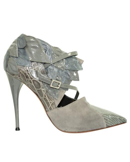 Chloé Snakeskin Suede with Leaves Pumps Size EU 38 (Approx. US 8) Regular (M, B) Chloé Snakeskin Suede with Leaves Pumps Size EU 38 (Approx. US 8) Regular (M, B) Image 1