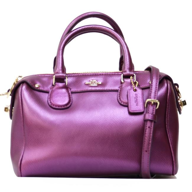 Coach 2way Ladies Men Purple / White Leather Shoulder Bag Coach 2way Ladies Men Purple / White Leather Shoulder Bag Image 1