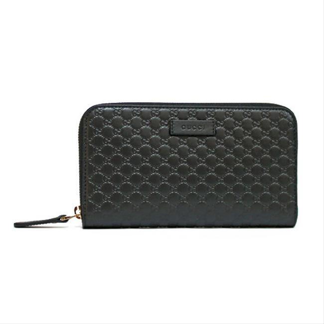 Gucci Black Long Gg Pattern Round Fastener Ladies Men's Wallet Gucci Black Long Gg Pattern Round Fastener Ladies Men's Wallet Image 1