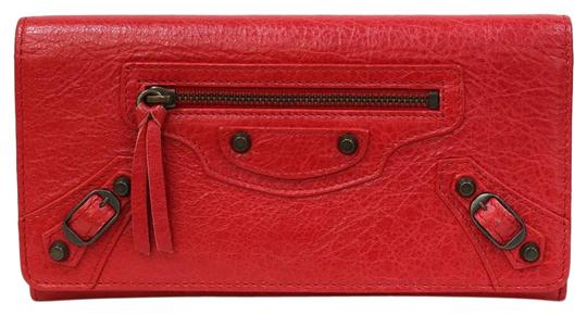 Preload https://img-static.tradesy.com/item/27304831/balenciaga-red-color-white-long-continental-leather-ladies-men-wallet-0-1-540-540.jpg