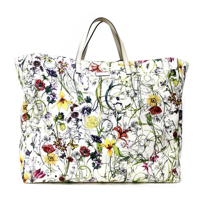 Item - Bag Travel Floral Pattern Flora Ladies Men White Tote