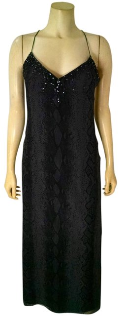 Preload https://item1.tradesy.com/images/laundry-by-shelli-segal-black-gray-silk-p1378-long-cocktail-dress-size-4-s-2730490-0-0.jpg?width=400&height=650