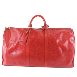 Louis Vuitton Satchel in Castilian red / Red color