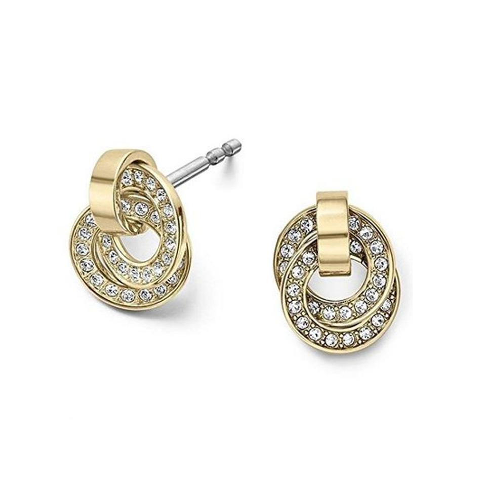 Michael B Jewelry Death Of Michael Kors Gold Clear Earrings Michael Kors Jewelry