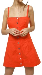 Capulet short dress Orange on Tradesy