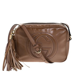 Gucci Leather Patent Leather Shoulder Bag