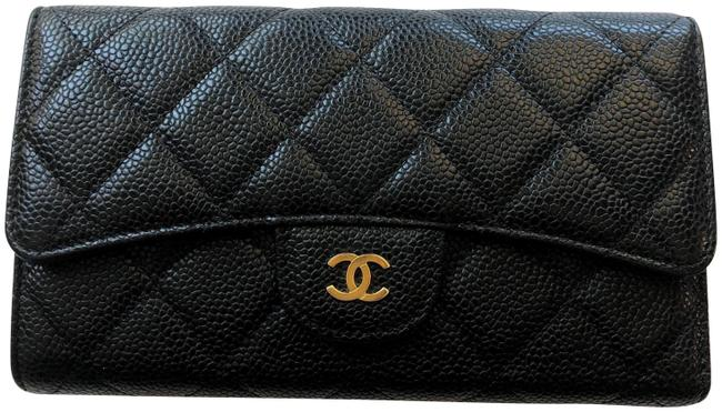 Chanel Black Classic Flap Caviar Wallet Chanel Black Classic Flap Caviar Wallet Image 1