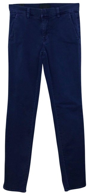 Vince Blue Washed Chino Ankle Pants Size 00 (XXS, 24) Vince Blue Washed Chino Ankle Pants Size 00 (XXS, 24) Image 1