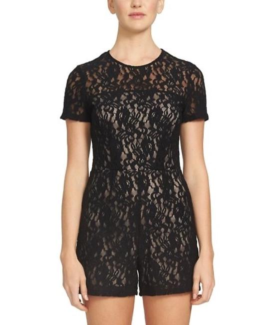 Item - Game On Lace Romper Black Top